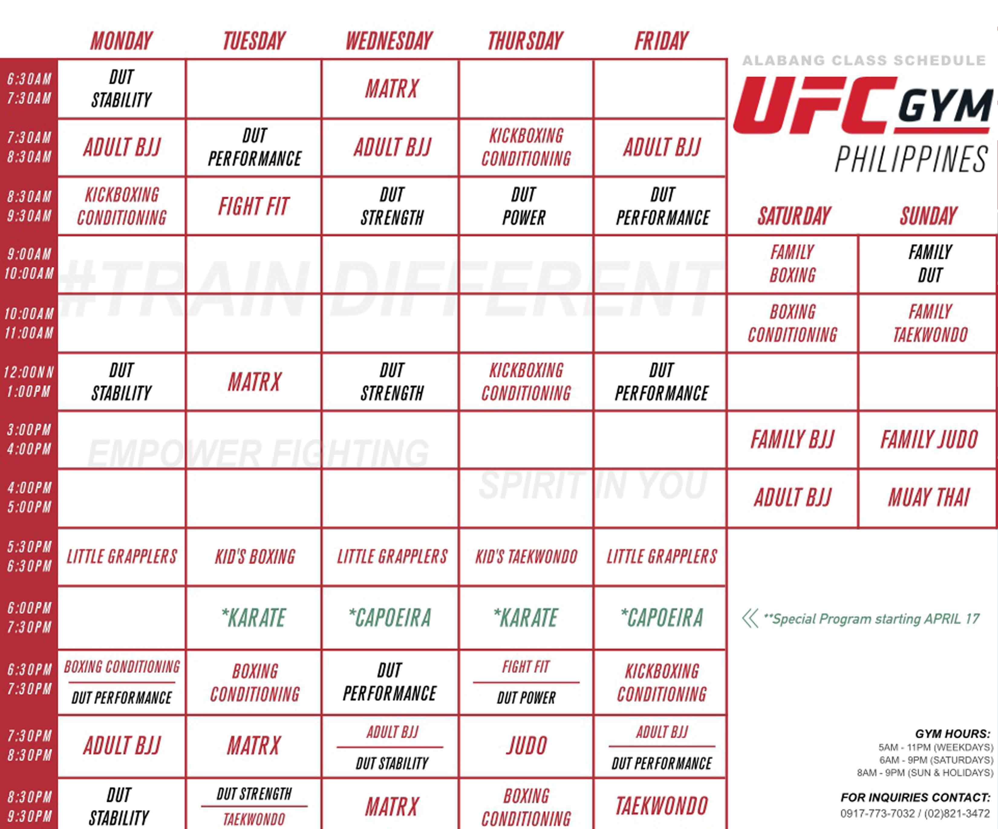 UFC Gym Classes
